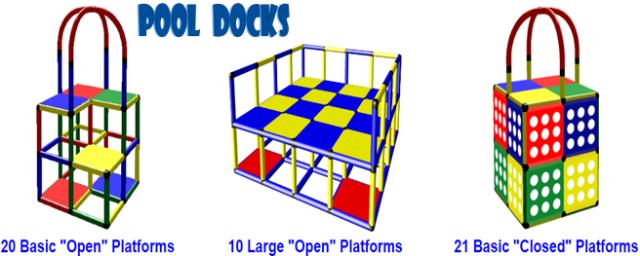portable swim training pool platform